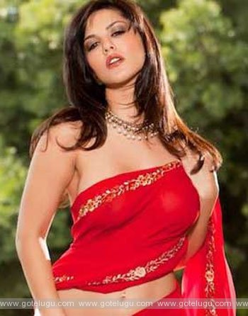 sunny leone with saree