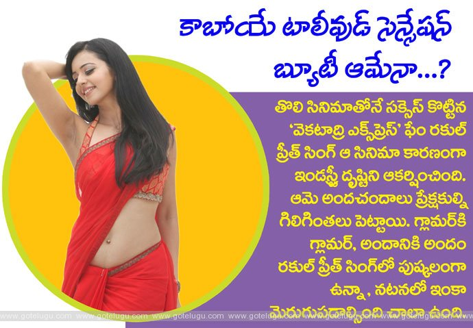 Is she becoming tollywood sensation?